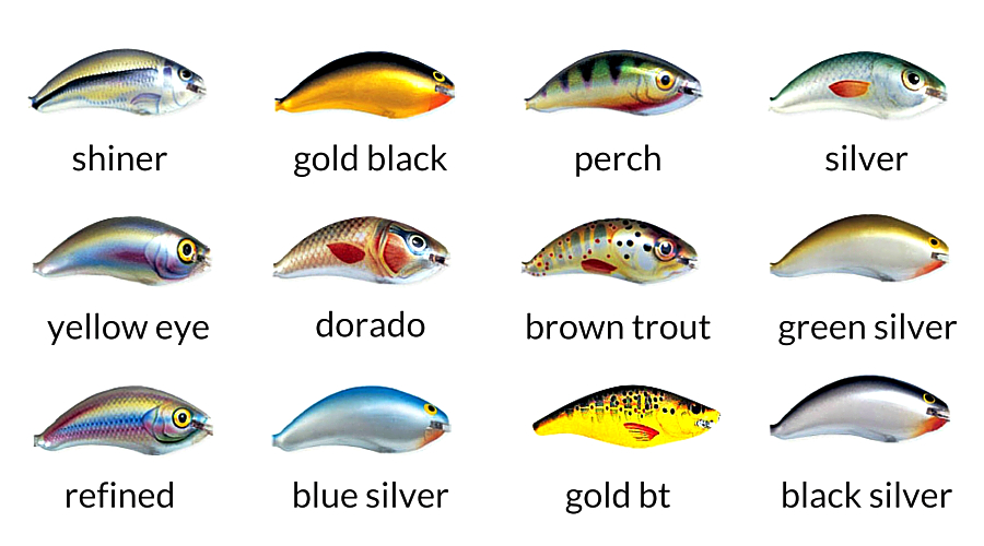 Ugly Duckling Lures 2F color chart - ultra light lures