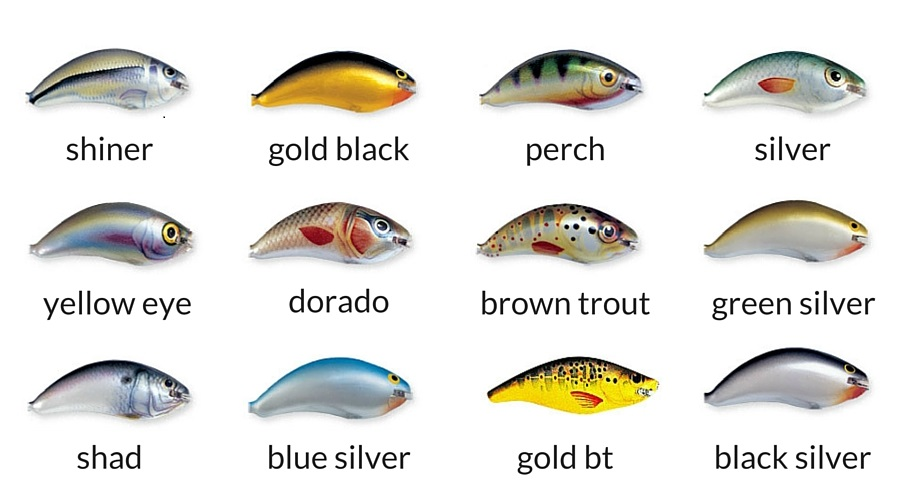 Ugly Duckling Lures 4F color chart - udlures.com